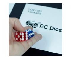Electronic board with remote control dice