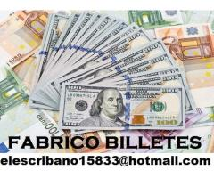 Vendo billetes falsos dólar y euro  elescribano15833@hotmail.com