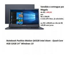 Notebook Positivo Motion Q432B Intel Atom - Quad-Core 4GB 32