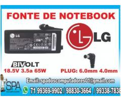 Carregador Notebook Lg 19v 3.5a Pino 6mm x 4mm
