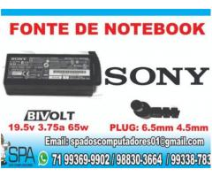 Carregador Notebook Sony Vaio 19.5v 4.7a