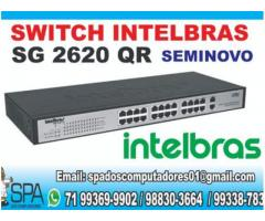 Switch Intelbras SG 2620 QR de 24 portas Seminovo