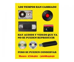 SE COPIAN AUDIOS Y VIDEOS A CD Y DVD