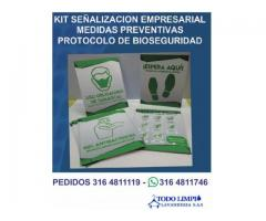 PENDON Y KIT DE BIOSEGURIDAD