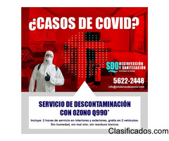 DESCONTAMINACION CON OZONO