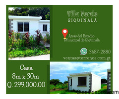 Casa disponible en Siquinalà
