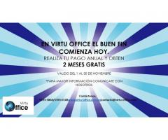 VIRTU OFFICE TE OFRECE DOMICILIO FISCAL
