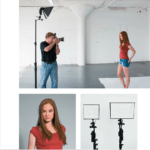 The book is full of behind-the-scenes images showing the setup and the end result.