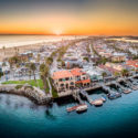 Newport Harbor, an aerial panorama by Colin Smith