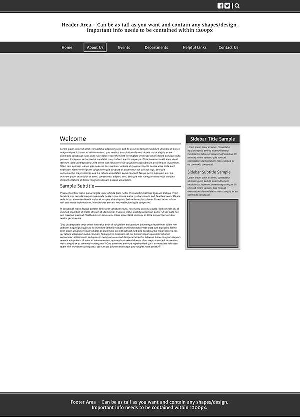 Ironwood Subpage Wireframe