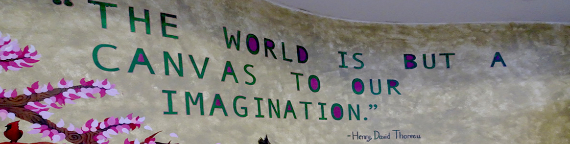 The world is but a canvas to our imagination. - Henry David Thoreau