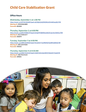 Child Care Stabilization Grant Flyer page 2