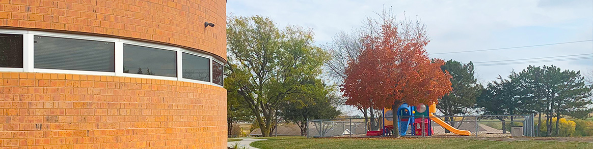 Westmont Elementary School Campus on a beautiful fall day