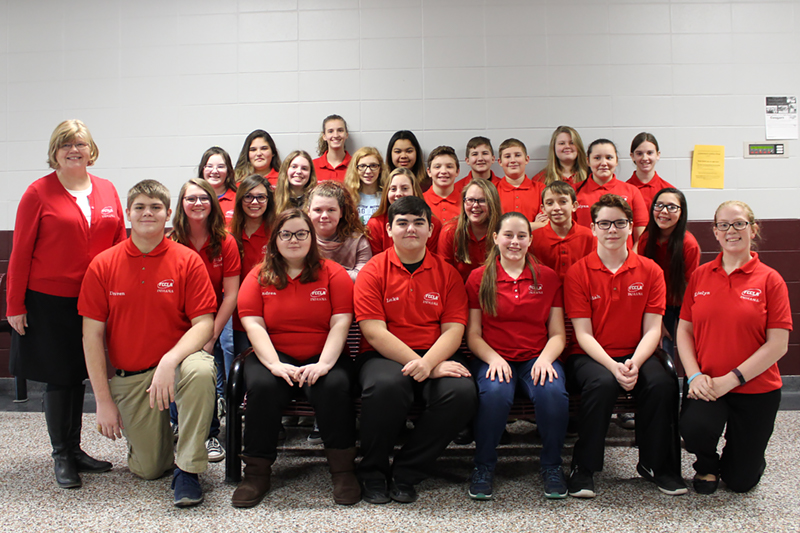 South Decatur Jr/Sr High School Family Center and Community Leaders of America Club members