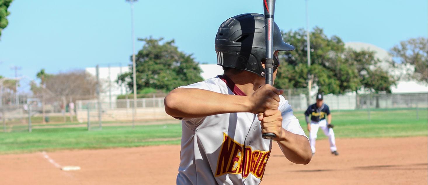 baseball team player up to bat