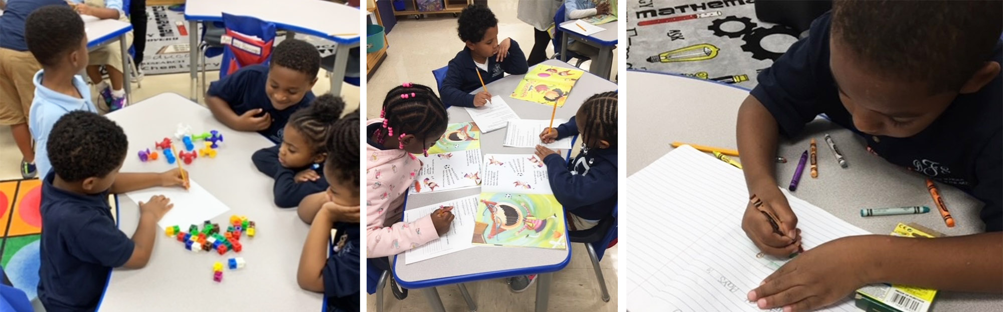 Students engaged in learning in the classroom