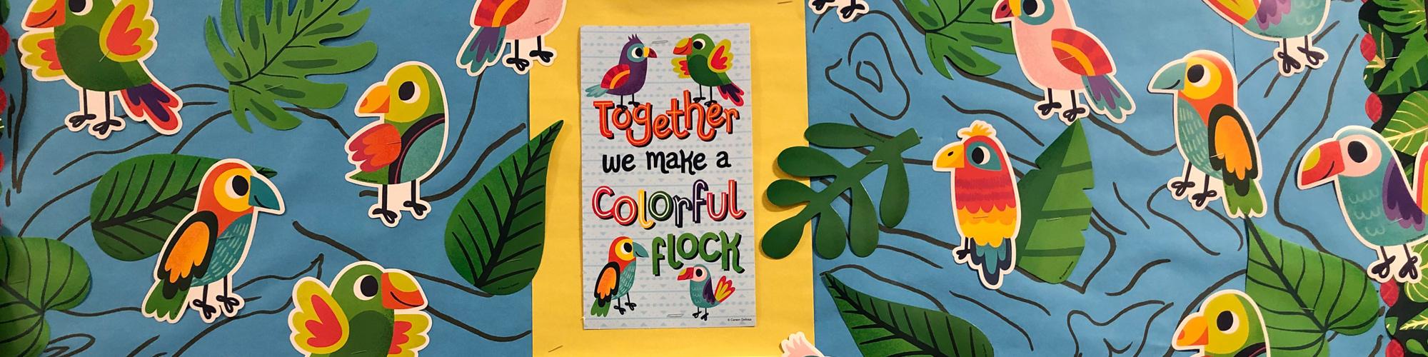 together we make a colorful flock