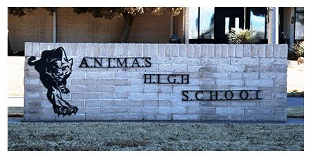 Animas High School sign