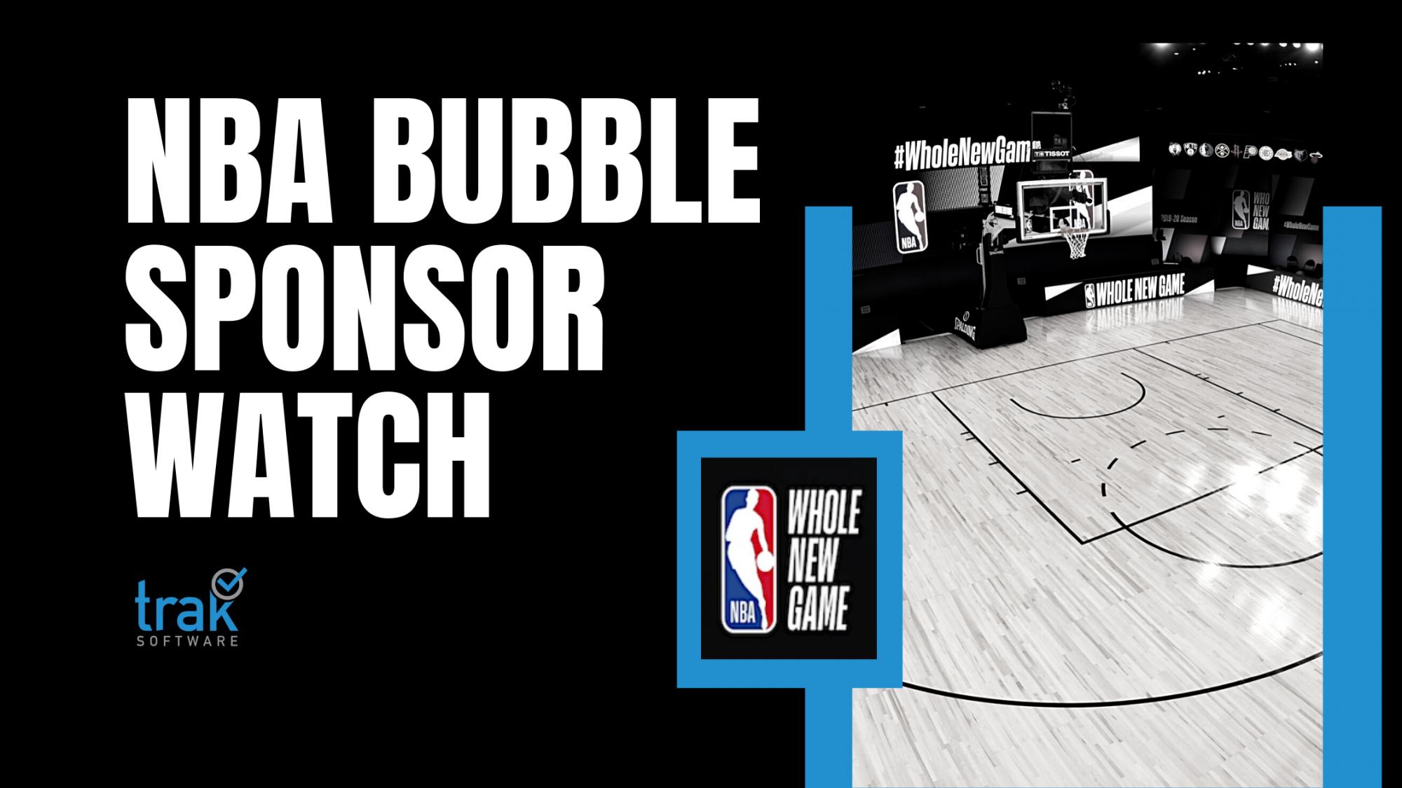 NBA Bubble Sponsor Watch Banner