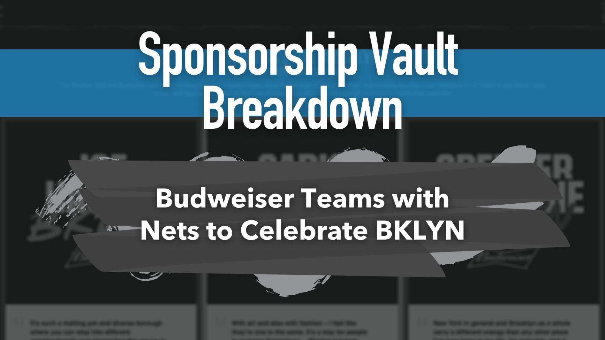 Nets and Budweiser Sponsorship Header