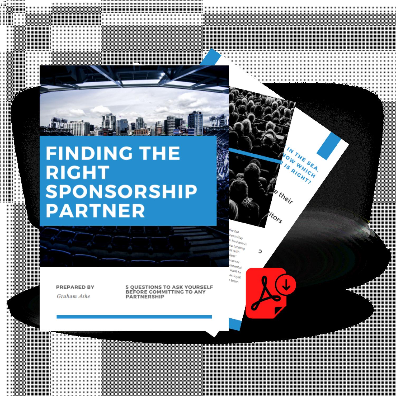 Sponsorship Finding the Righ P Artner Template
