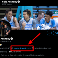 Cole Anthony The Cole Anthony Twitter