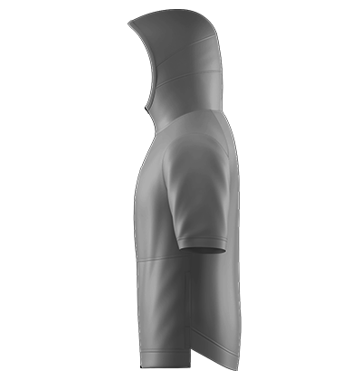 SFN Hoodie Short Sleeve Full Zip Blank Template