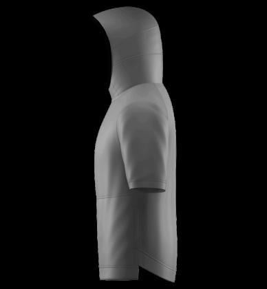 SFN Pull Over Hoodie Short Sleeves Blank Template