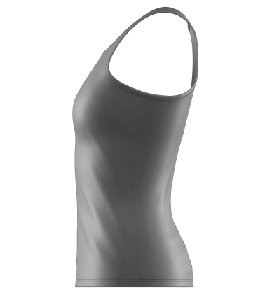 Tennis Side Seam Tank Blank Template