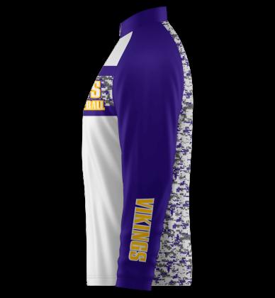 Vikings Quarter Zip Jacket Long Sleeve