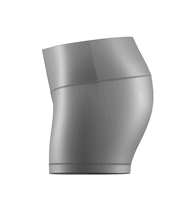 Volleyball Compression Short Blank Template