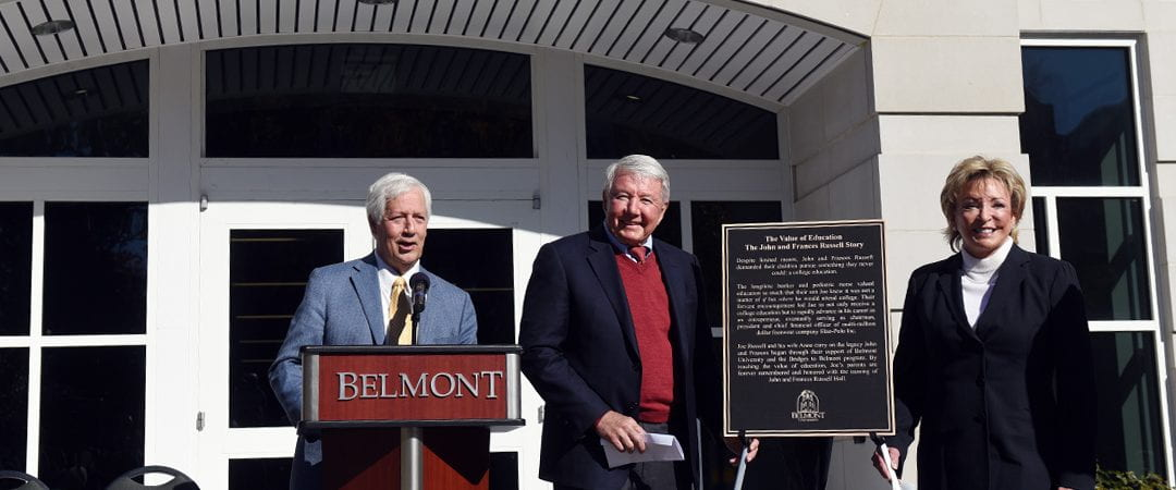Joe and Anne Russell Spur $4 Million Endowment to Support 'Bridges to Belmont'