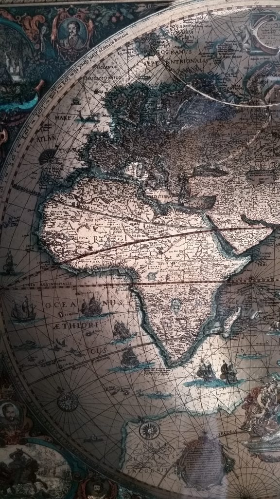 Beautiful map I have on my wall at home. Thought the image fitting.
