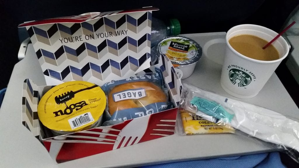 "The ""light"" breakfast that was served on the way to Paris. I was pleasantly surprised."
