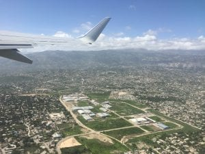 View of Port-au-Prince from the air