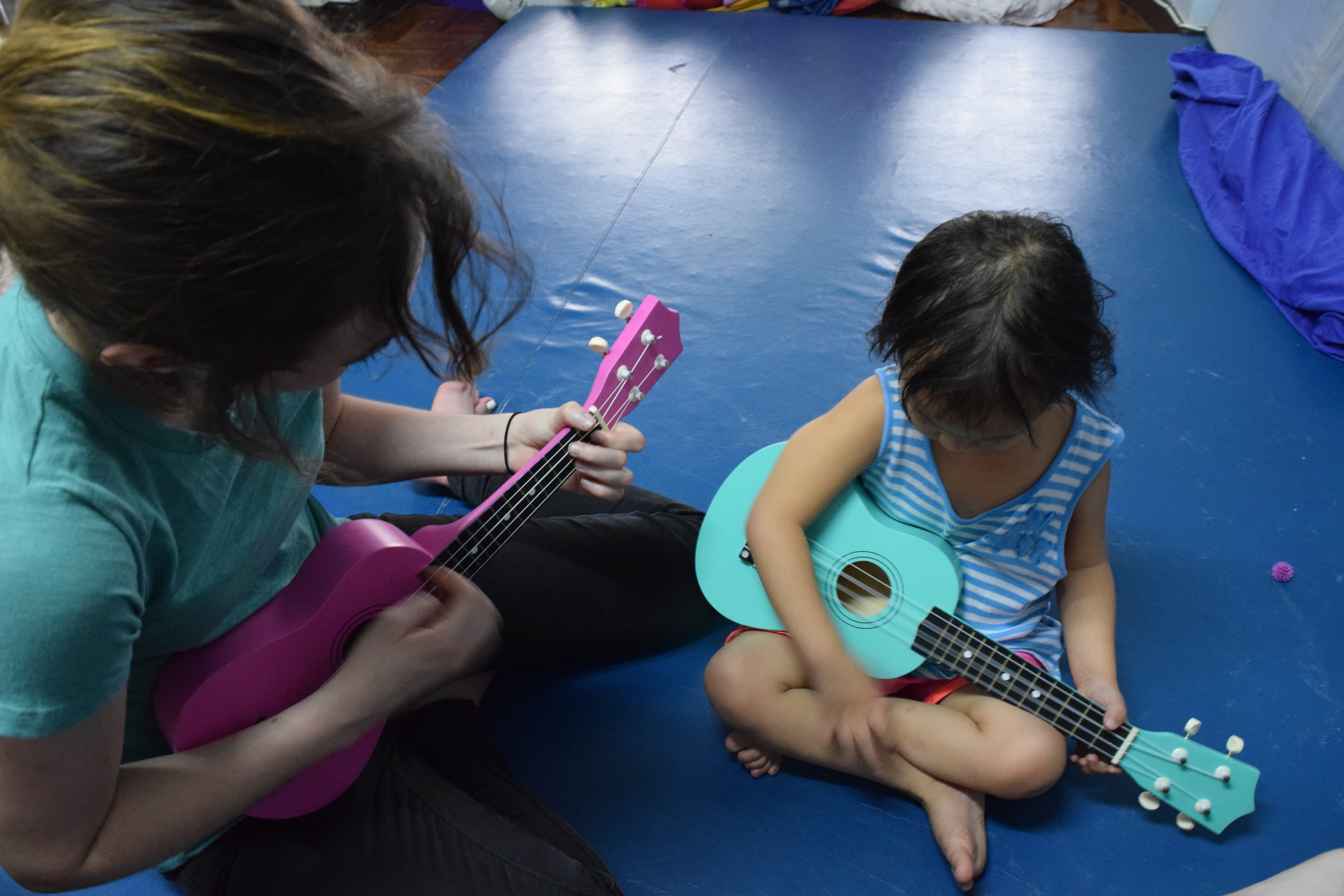 A little music session at Hope Home before we begin painting