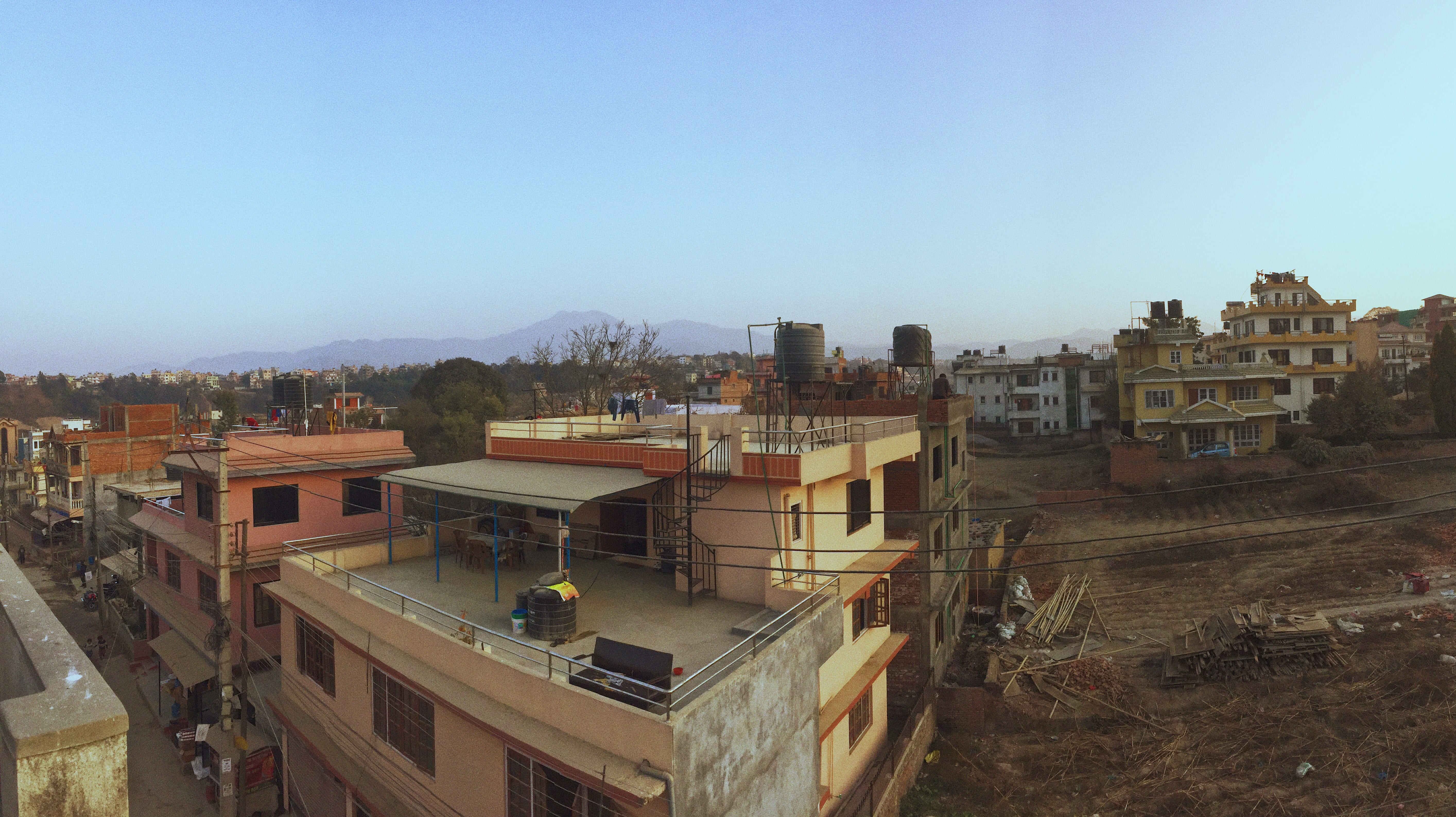 View from the top floor of my host home in Lalitpur.