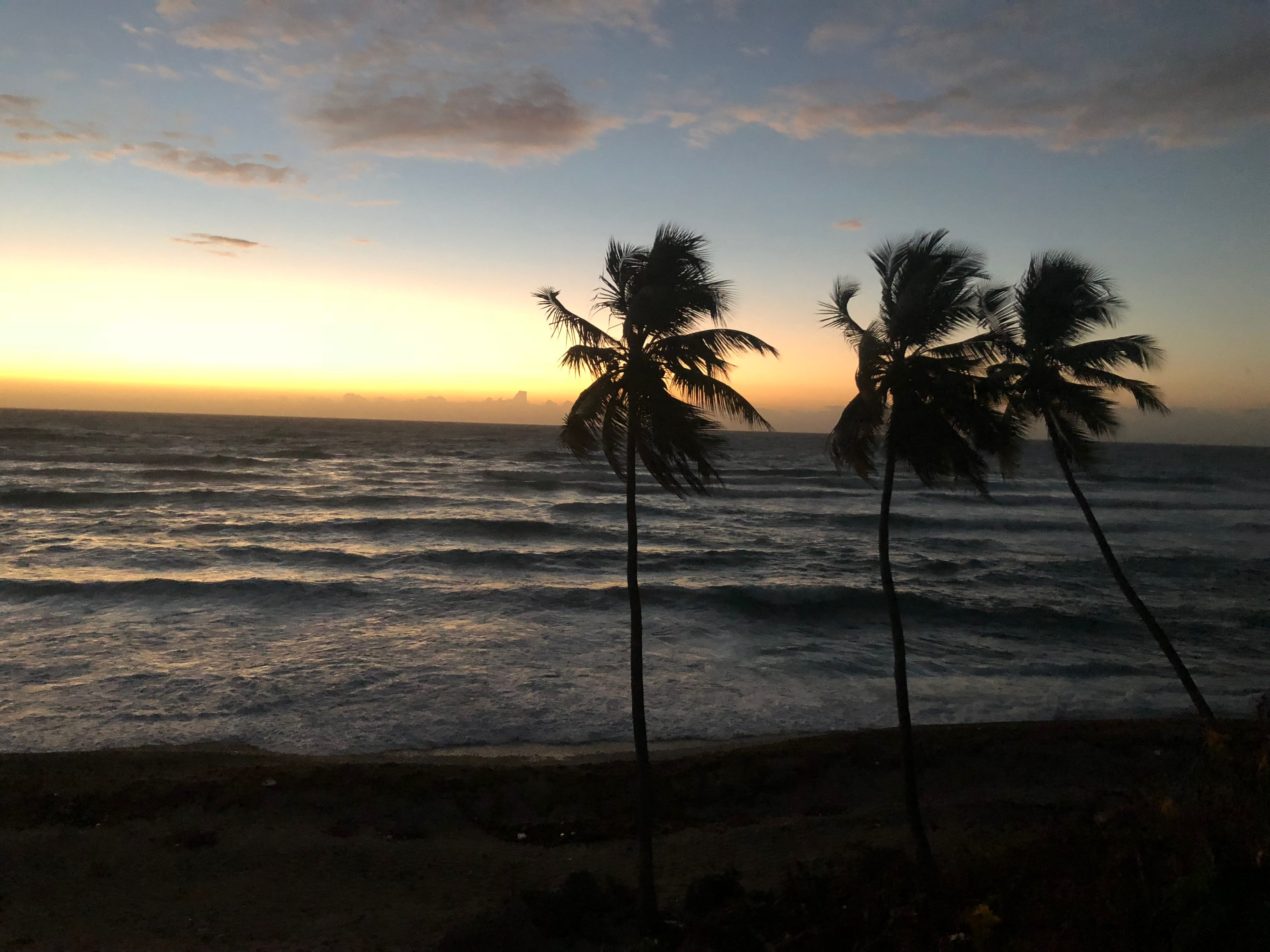 Sunrise on the beach at Barahona