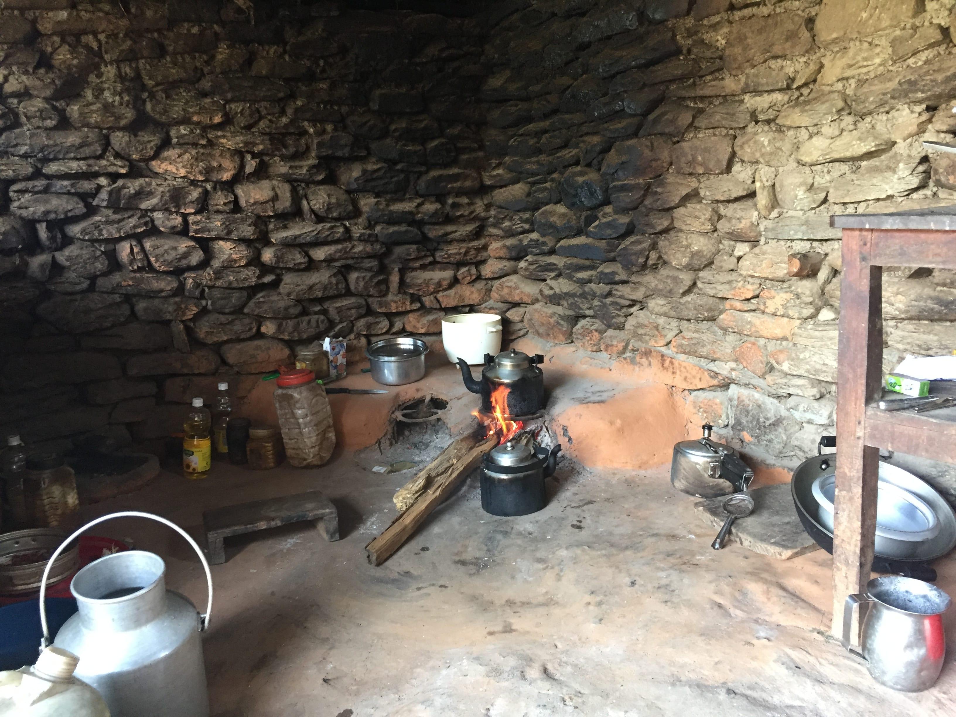 Kumar's hut.