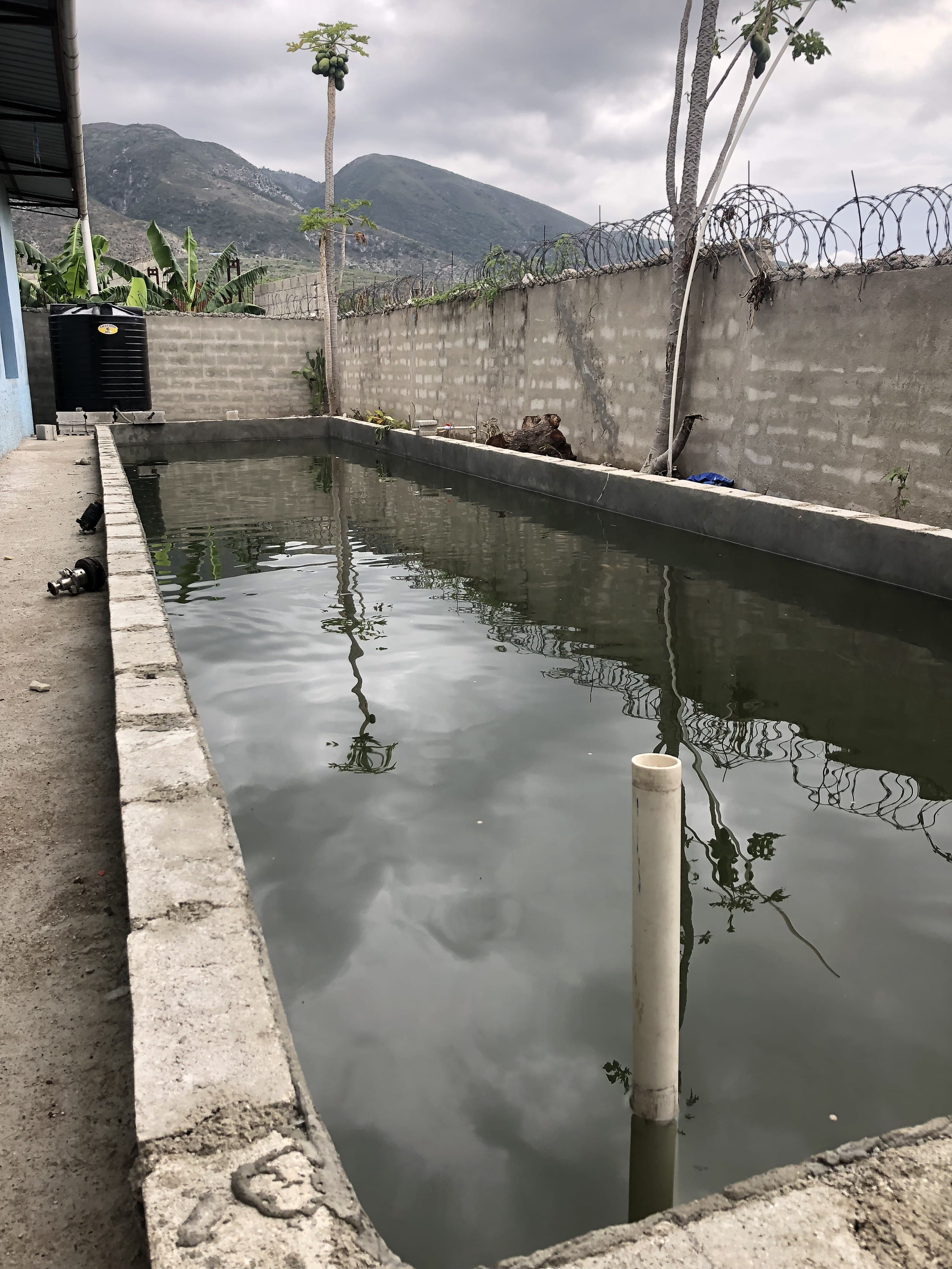 Alex's House test operation for fish farms in Haiti