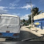 Lots of traffic blocking the roads in Port au Prince these days