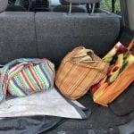 Colorful bags make market shopping more fun!