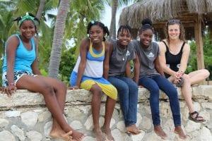 A few of Haiti's future fanm djanm!