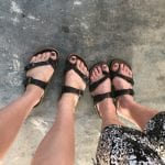 Matching shoes and toes!