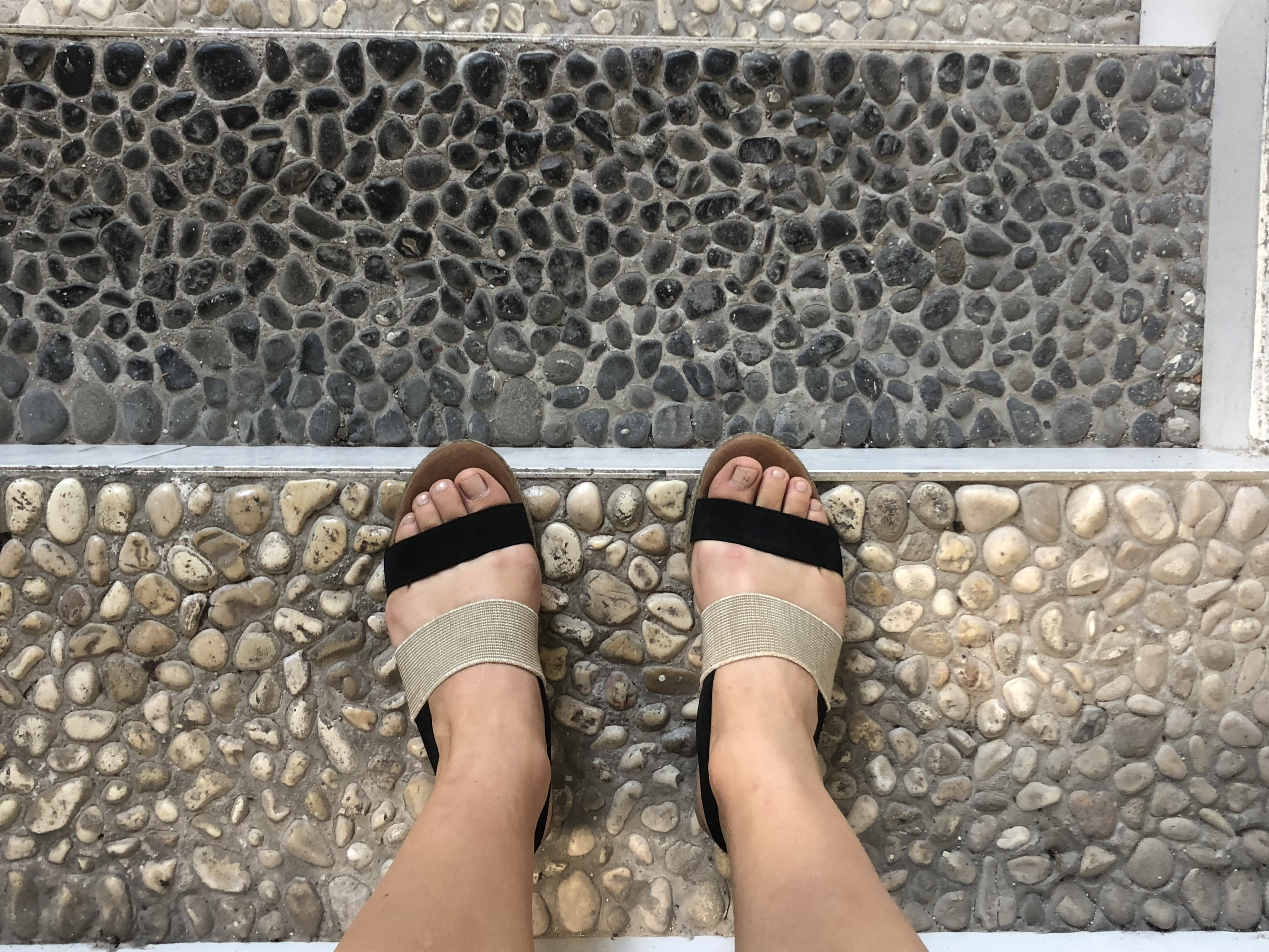 Had to capture my sandals matching the rock