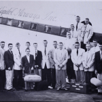 Men's basketball team travels by air on Minnie Pearl's private plane