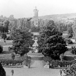 Early view of Belmont College grounds