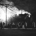 Blanton Hall catches fire