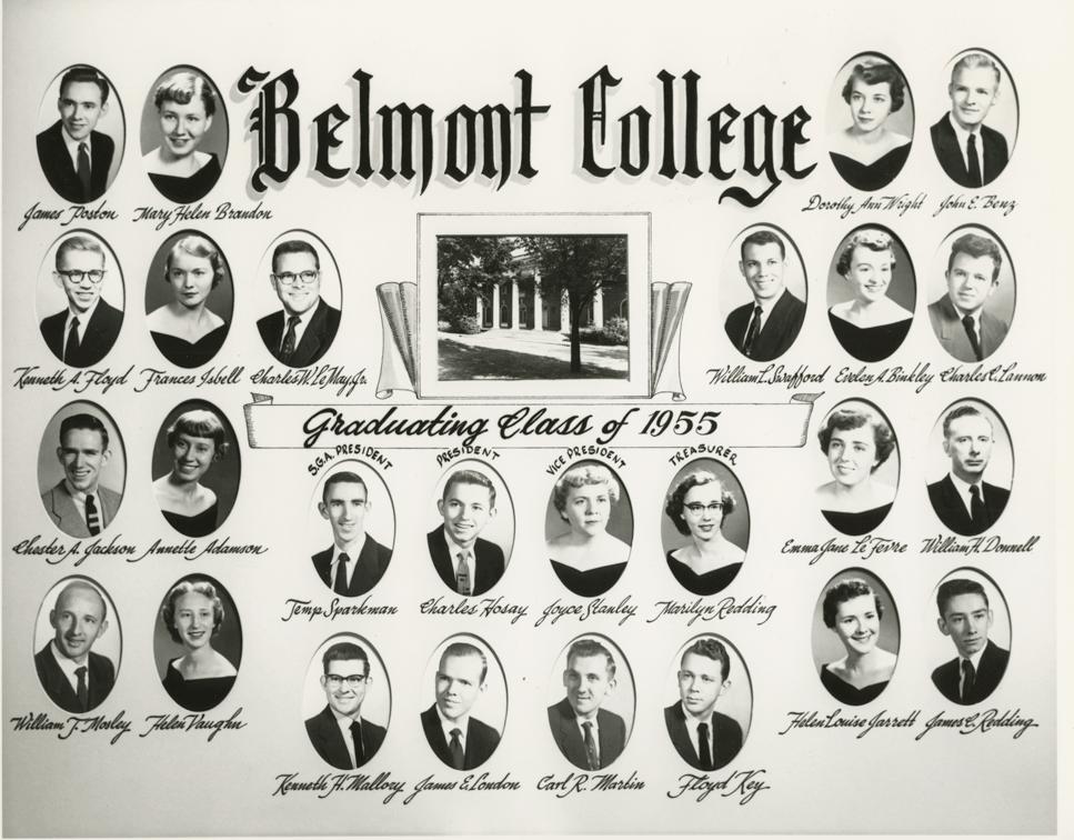 Belmont College graduating class of 1955