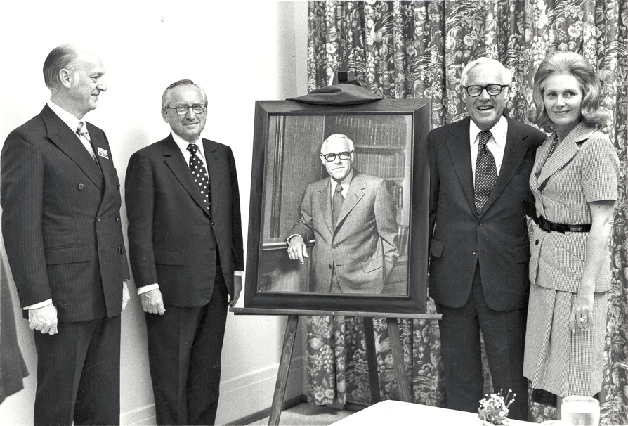 Portrait to honor the philanthropy of Jack C. Massey